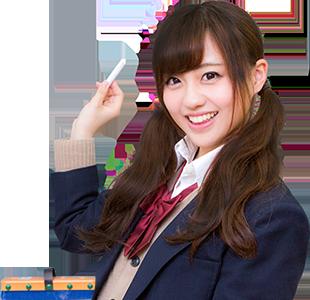 黒板に書いてある武田塾の文字と生徒