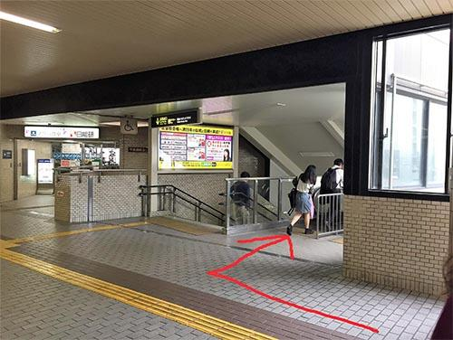 武田塾西宮北口校のへのアクセスその2